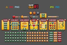 Game GUI #1 by yurakr on @creativemarket