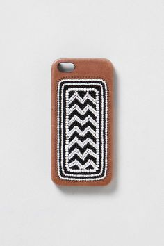 leather beaded iphone case.
