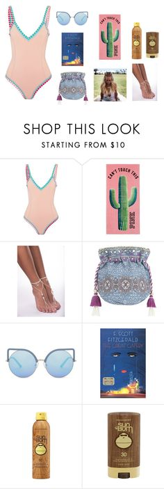 """beach bum"" by vanessastarrr on Polyvore featuring kiini, Monsoon, Matthew Williamson, Gatsby and Sun Bum"