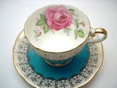 Antique 1930's Aynsley tea cup and saucer  by AntiqueAndCrafts