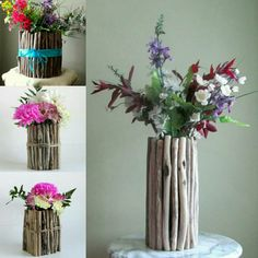 Out beautiful line of driftwood vases, starting at only $25!  www.driftingconcepts.com