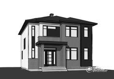 Détail du plan de Maison unifamiliale W3722-CI