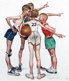 View Sports Portfolio by Norman Rockwell on artnet. Browse upcoming and past auction lots by Norman Rockwell. Peintures Norman Rockwell, Norman Rockwell Art, Norman Rockwell Paintings, Jc Leyendecker, Character Art, Character Design, Really Cool Drawings, Creation Art, Basketball Art
