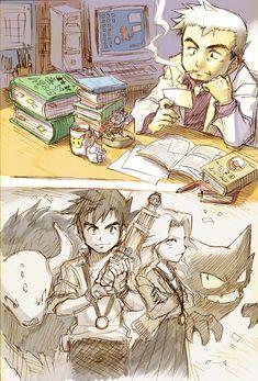Prof. Oak and Agatha by Zenkarou