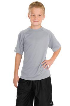 Sport-Tek Youth Dry Zone Raglan T-Shirt Y473 Silver