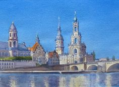 Dresden, Germany - Watercolour - 11x15 Sold