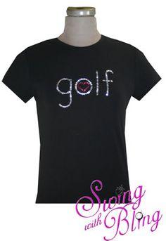 Rhinestone golf with a heart =)  $29.99