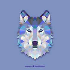 Vector geometric animals: Wolf