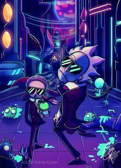 Rick and Morty x Run the Jewels - Modern Rick And Morty Time, Rick And Morty Quotes, Rick And Morty Poster, Trippy Wallpaper, Cartoon Wallpaper, Dragonball Anime, Ricky Y Morty, Rick And Morty Drawing, Run The Jewels