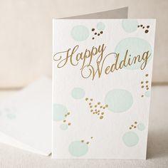Happy Wedding letterpress and foil card - Smock.
