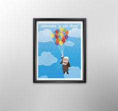 Up Disney Pixar Poster Illustrated Quote Wall by KaleidoDesignCo, $6.00