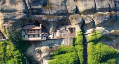 Perched on cliffs and built into the sides of mountains, these isolated monasteries are incredible sights. Isolated monasteries in Greece, China, India...