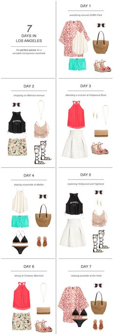 7 Days in Los Angeles : The Perfect Pieces for a Versatile Honeymoon Wardrobe #honeymoon #travel #packing