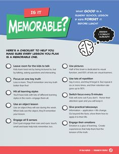 Make Your Lessons Memorable (Free Tool) ~ RELEVANT CHILDREN'S MINISTRY