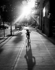 Black & White, Tricycle Learning (By Poy Divinagracia)
