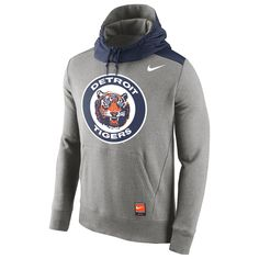 Detroit Tigers Nike Cooperstown Collection Hybrid Pullover Hoodie - Gray - $67.99