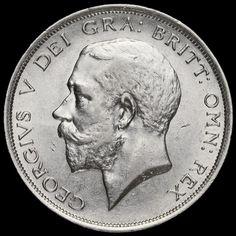 1916 George V Silver Half Crown, Near EF