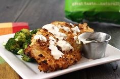 Jalapeno Kettle Chip Crusted Chicken with Jalapeno Ranch... i love spicy things so this is right up my alley