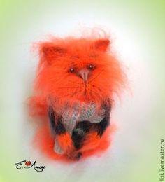 Маленький кусочек лета. - рыжий,кот,пушистый кот,мохеровая игрушка,позитивный подарок