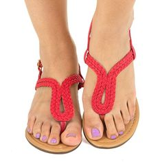 Twisted Women's RILEY Braided Gladiator Keyhole Low Wedge.Sale:$14.99 & Free Return on some sizes and colors
