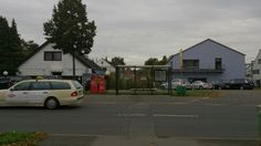 On the RIGHT: Kindergarten. On the LEFT: Brothel. GERRESHEIM, Düsseldorf, Germany