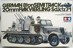 Tamiya 1/35 20mm Flakvierling 8 ton Semitrack Sd.Kfz 7/1, MM-150A plastic model kit