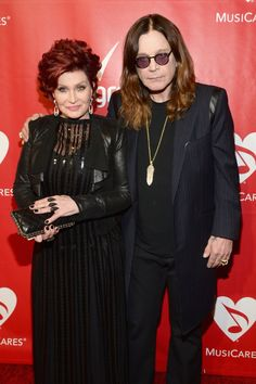 Sharon Osbourne and�Ozzy Osbourne�arrive at the 2014 MusiCares Person of the Year tribute to Carole King on Jan. 24 in Los Angeles