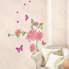 Spring Garden - Wall Decals Stickers Appliques Home Decor by Hemu Wall Sticker. $6.49. This decal would be perfect for nearly any room in the house: your living room, bedroom, etc.. Simply apply this decal to your wall to immediately bring in a fresh new atmosphere and mood.. With little cost or effort you can decorate your home without the trouble or expense of painting.. Size: (W)13 inch x (H)23.5 inch; Colors: Mixed (as shown in the image). Show your creativity by tu...