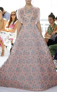 Embroidered Jacquard Ball Gown by DELPOZO for Preorder on Moda Operandi