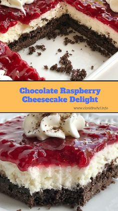 Delicious chocolate raspberry cheesecake delight Source by Mousse, Delicious Desserts, Dessert Recipes, Yummy Food, Homemade Chocolate, Chocolate Recipes, Chocolate Raspberry Cheesecake, Chocolate Graham Crackers, Pudding