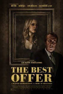 The Best Offer this weekend 4/4-6 at the PC Film Series.  A master auctioneer becomes obsessed with an extremely reclusive heiress who collects fine art.  Director/Writer: Giuseppe Tornatore   Stars: Geoffrey Rush, Jim Sturgess, Sylvia Hoeks