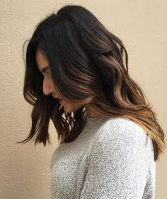 Medium+Layered+Brunette+Hair+With+Highlights