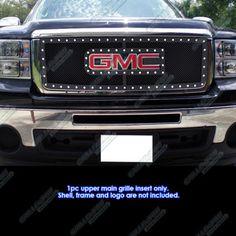 07-2012 GMC Sierra 1500/07-2010 Sierra Denali New Body Rivet Mesh Grille Grill