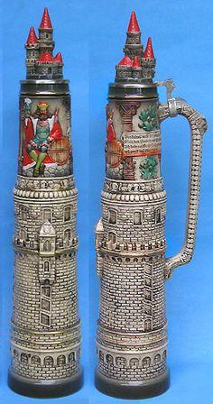 Gambrinus Tower Beer Stein