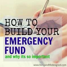 How to Build Your Emergency Fund - Simple ideas on how to build our emergency fund. We're working hard to build ours right now so this is really helpful