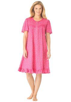 Plus Size Short knit rosebud gown Plus Size Sleepwear, Cute Sleepwear, Sleeping Gown, Night Gown Dress, Night Dress For Women, Indian Designer Wear, Maternity Wear, Plus Size Outfits, Short Sleeve Dresses