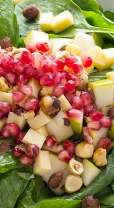 Cranberry salad, Cranberries and Spinach on Pinterest