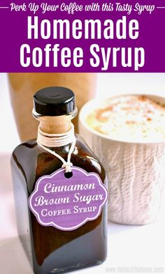 Learn how to make flavored coffee with this easy Cinnamon Brown Sugar Coffee Syrup Its a great addition to your morning coffee Add this DIY Coffee Syrup to iced coffee ma. Sugar Free Coffee Syrup, Brown Sugar Syrup, Coffee Tasting, Coffee Drinks, Iced Coffee, Coffee Syrups, Coffee Art, Easy Coffee, Coffee Flavored Syrup