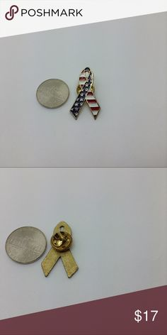 "1"" patriotic lapel fashion pin .. Jewelry Brooches"