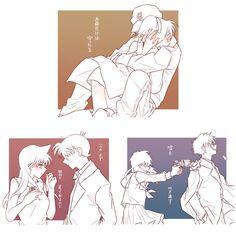 Dc Couples, Anime Couples, Detective, Kaito Kuroba, Gosho Aoyama, Amuro Tooru, Detektif Conan, Cute Romance, Anime Crossover