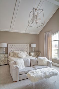Awesome Tan and white bedroom. Tan and white bedroom paint color and decor. Tanandwhitebedroom Memmer Homes, Inc. The post Tan and white bedroom. Tan and white bedroom paint color and decor. Tanandwhiteb… appeared first on Home Dec . White Bedroom, Home Bedroom, Bedroom Design, House Rooms, Bedroom With Sitting Area, Home Decor, Apartment Decor, Interior Design, New Room