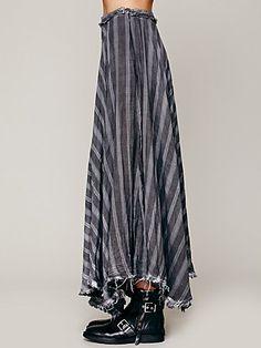 Gauzy Wool Plaid Maxi