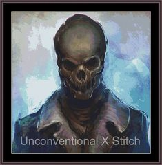 Skull cross stitch pattern - Skull Lord Extract - Licensed  Marius 'noistromo' Siergiejew by UnconventionalX on Etsy