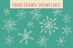 Holiday Snowflakes ClipArt by The Pen & Brush on @creativemarket