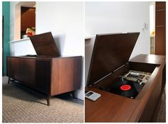 oh I NEED one of these...an antique credenza with a record player. The hunt is on!