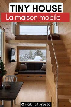 Tiny House : la maison mobile et pratique ! Modern Tiny House, Modern Houses, Prefab Homes, Log Homes, Construction, Tiny House Movement, Tiny House On Wheels, Treehouse, House Plans
