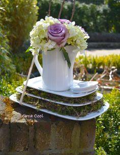 Koffiepot met Bloemen... Wat je al niet met Vintage servies kunt doen! #bloemen #servies |OrcaCool