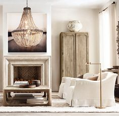 Restoration Hardware is the world's leading luxury home furnishings purveyor… Interior Design Principles, Living Room Decor, Living Spaces, Dining Room, Great Rooms, Room Inspiration, Home Furnishings, Luxury Homes, Family Room