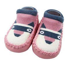 101578a25c5 Amazon.com | Sunward 1 Pair Cute Cartoon Unisex Toddler Baby Cotton Anti- slip Slipper Floor Socks Shoes | Slippers