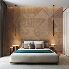 Decorar con formas geométricas: crear triángulos a través de la trama de la madera #decoracion #formasgeometricas #triangulos